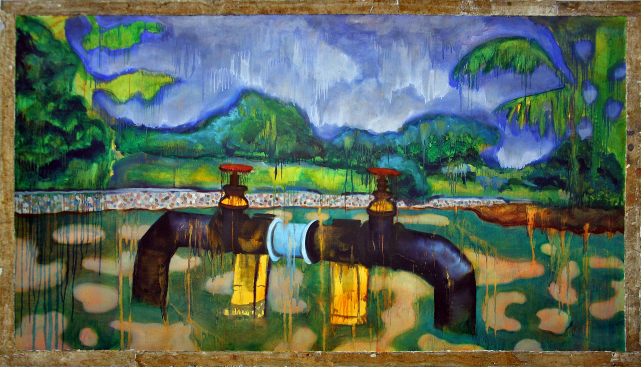 Memory of a Pond, Oil on Canvas, 54 in x 92 in, 2007