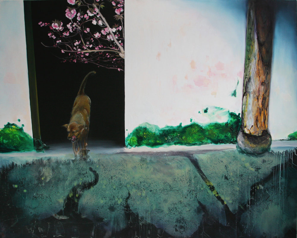 A Room With a Floor, Oil on Canvas, 48 in x 60 in, 2009