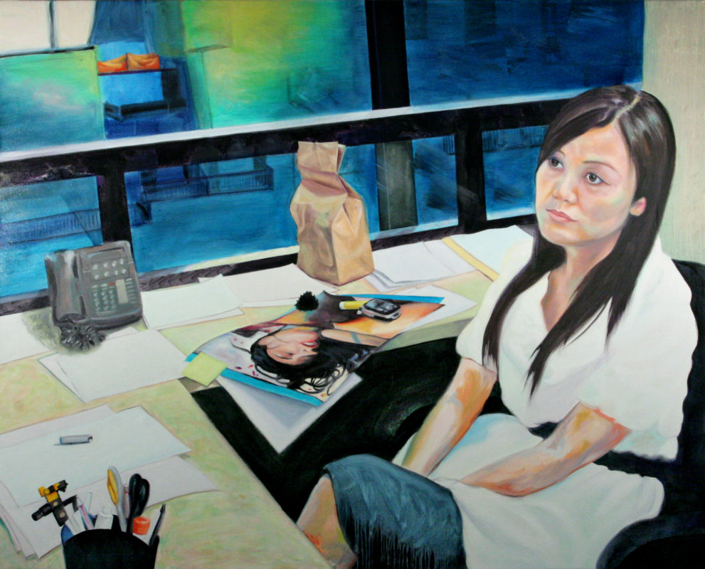 Office VI, Oil on Canvas, 48 in x 60 in, 2008