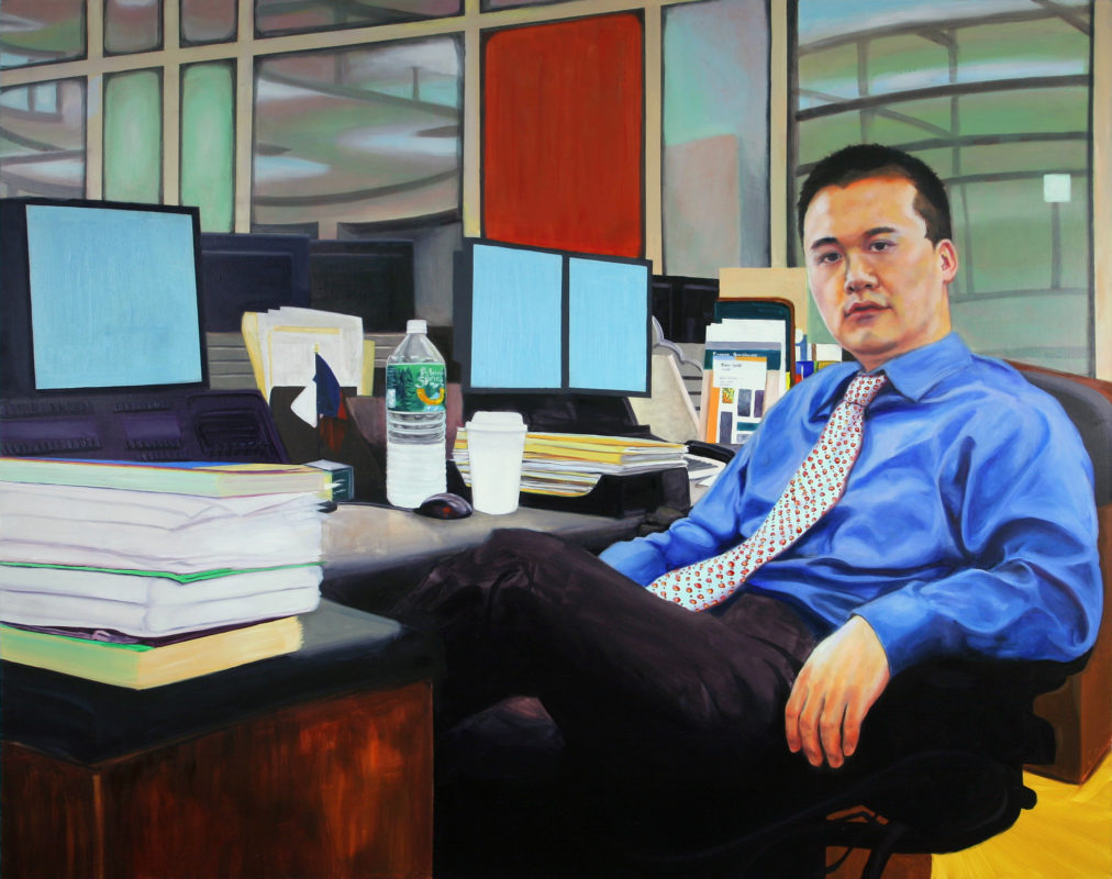 Office V, Oil on Canvas, 48 in x 60 in, 2008