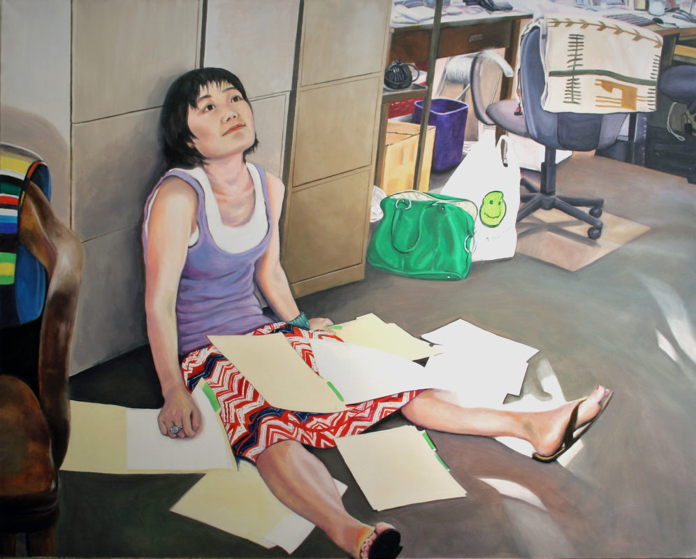 Office II, Oil on Canvas, 48 in x 60 in, 2008