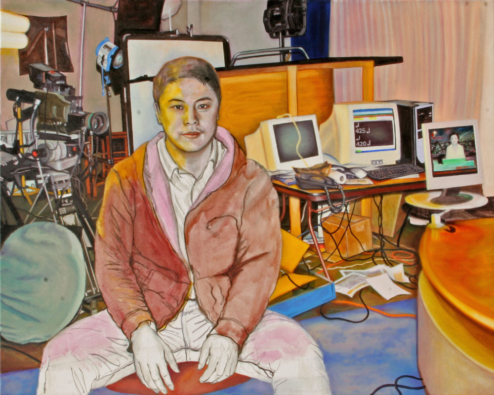 Office III, Oil on Canvas, 48 in x 60 in, 2008